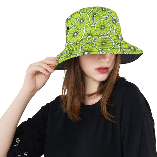 Slices of Lime design pattern Unisex Bucket Hat