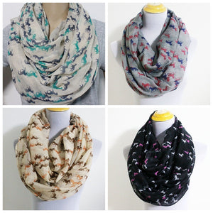 Horse Infinity Scarf Snood Runnning Horse Scarves ccnc002 hp0003