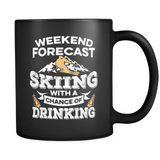 Black Mug-Weekend Forecast Skiing With a Chance of Drinking ccnc005 sk0008