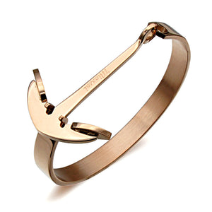 Anchor Bracelet For Men Guys Women Gold Rose Gold Silver Black Ccnc006 Bt0150