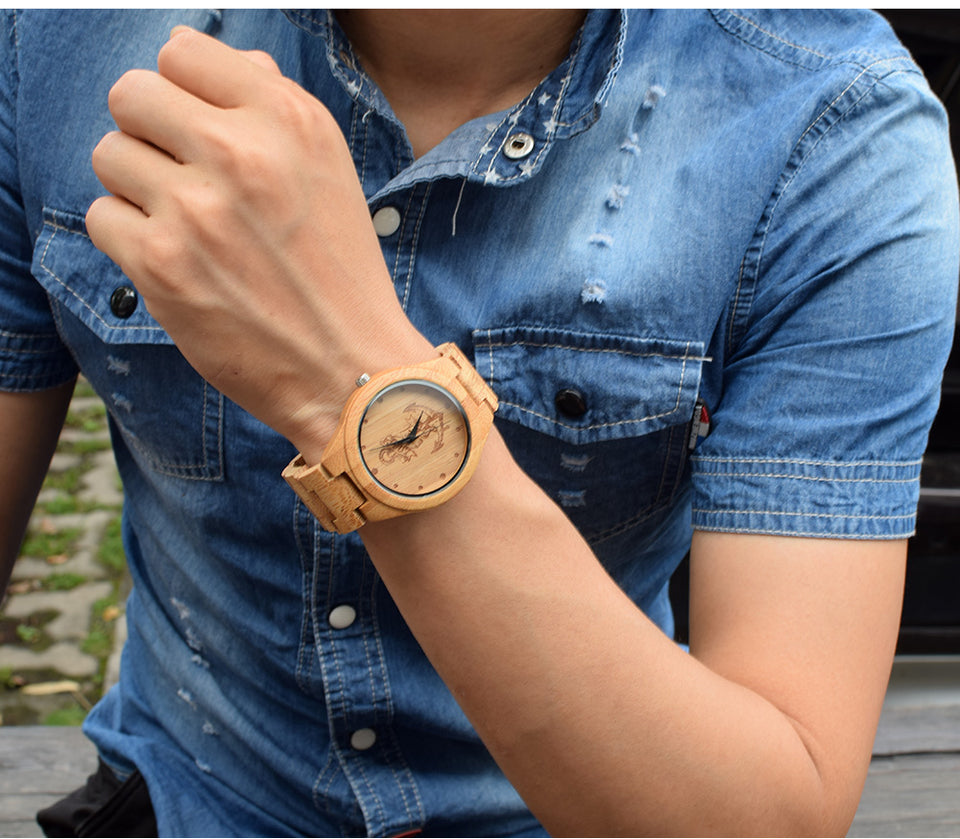 Anchors Design Bamboo Watches Japan Quartz Wooden Men Women Luxulry Watches  ccnc006 bt0151