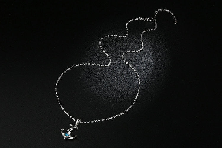 Anchor Pendant Necklace Womens  ccnc006 bt0114