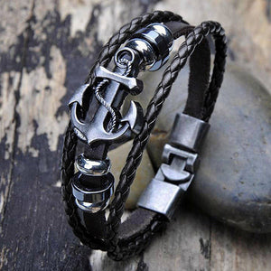 Leather Anchor Rope Bracelet For Men Guys Women  ccnc006 bt0139