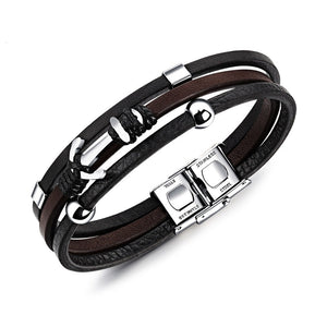 Leather Anchor Rope Bracelet For Men Guys Women ccnc006 bt0206