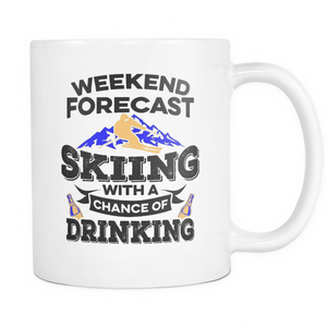 White Mug-Weekend Forecast Skiing With a Chance of Drinking ccnc005 sk0008
