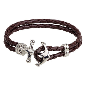 L eatherAnchor Rpoe Bracelet For Men Guys Women ccnc006 bt0147