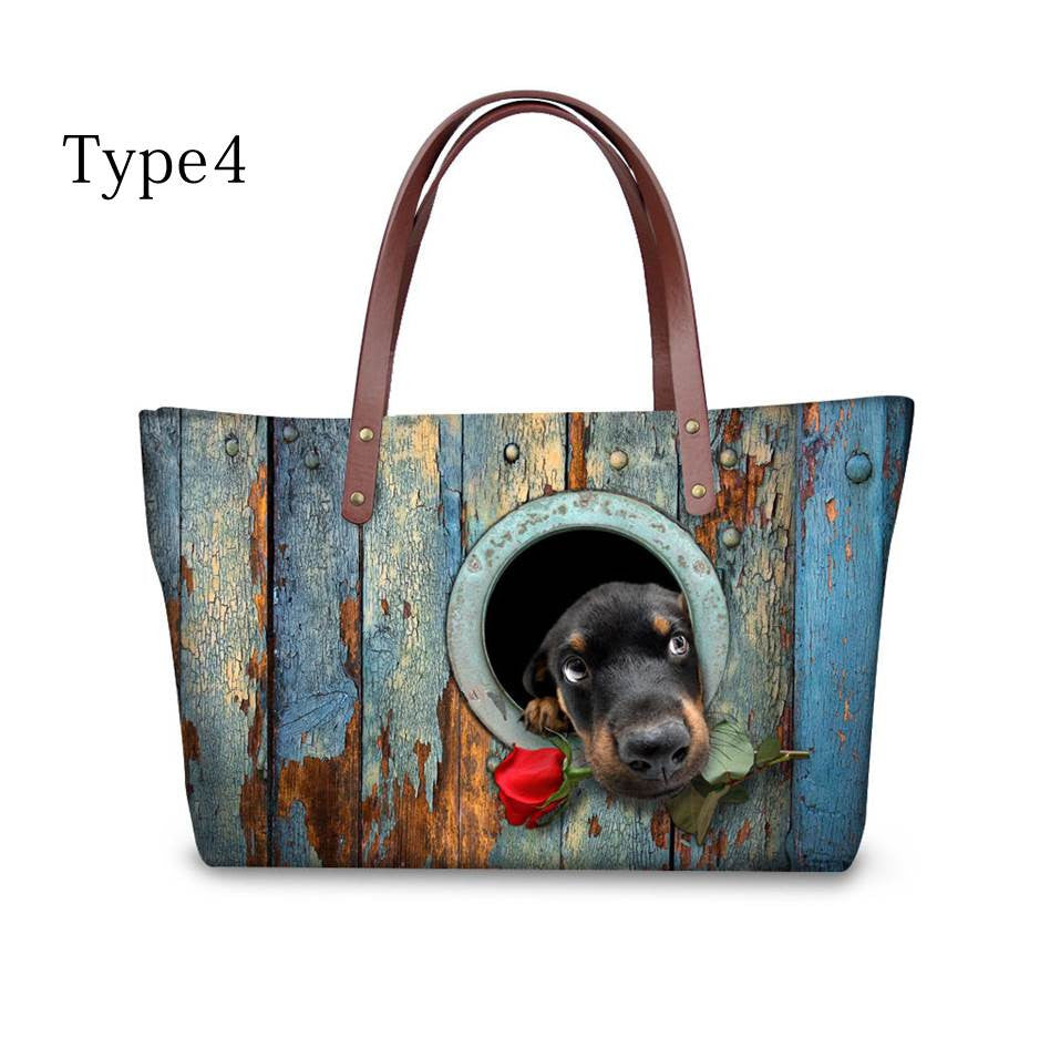 High quality women handbags cute dog dachshund pattern ccnc003 dg0023
