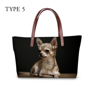 High quality women handbags cute dog chihuahua pattern ccnc003 dg0043
