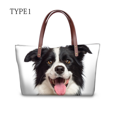 High quality women handbags cute dog border collie pattern ccnc003 dg0038