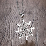 Rudder Anchor Pendant Necklace Mens ccnc006 bt0133