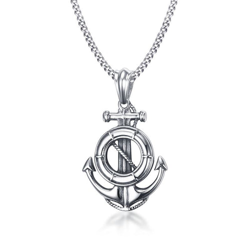 Anchor Pendant Necklace Mens ccnc006 bt0124