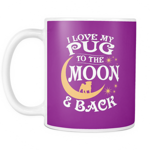 White Mug-I Love My Pug To The Moon & Back ccnc003 dg0056
