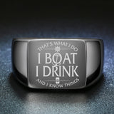 Boat Mens Womens Anchor Ring Laser Engraved ccnc006 bt0143