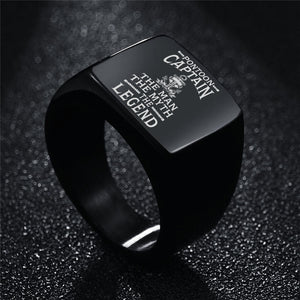 Pontoon Boat Mens Womens Anchor Ring Laser Engraved Ccnc006 Ccnc012 Pb0076