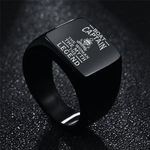 Boat Mens Womens Anchor Ring Laser Engraved Ccnc006 Bt0130