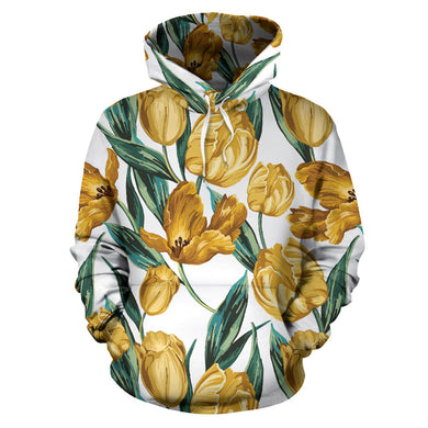 yellow tulips pattern Pullover Hoodie