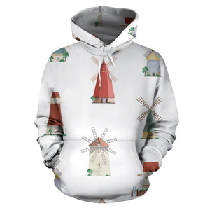 windmill design pattern Pullover Hoodie