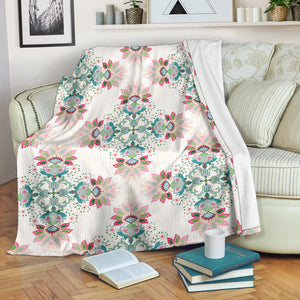 Square floral indian flower pattern Premium Blanket