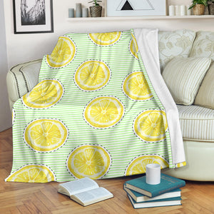 slice of lemon pattern Premium Blanket