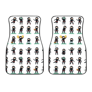 Cute Ninja Katana Sword Pattern Front Car Mats