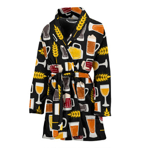 Beer Type Pattern Women'S Bathrobe