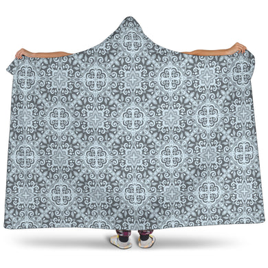 Traditional Indian Element Pattern Hooded Blanket