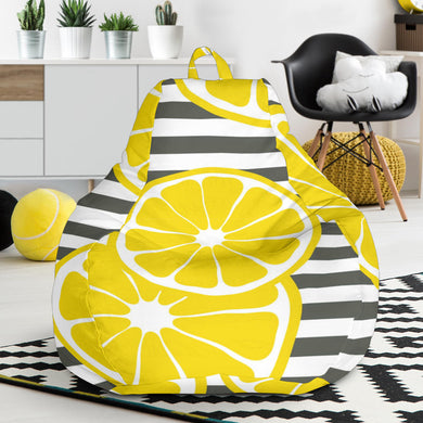 slice of lemon design pattern Bean Bag Chair