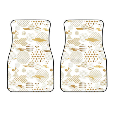 Beautiful gold japanese pattern Front Car Mats