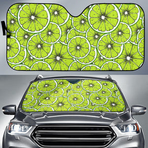Slices of Lime design pattern Car Sun Shade