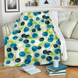 blueberry flower pattern Premium Blanket