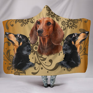Hooded Blanket - Dachshund Love