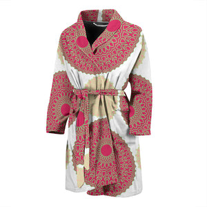Circle indian pattern Men's Bathrobe
