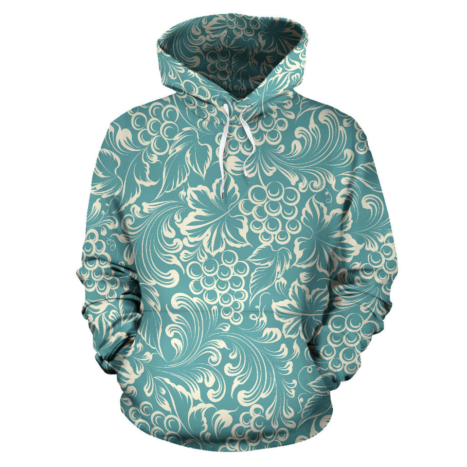 Classic Hand drawn Grape pattern Men Women Pullover Hoodie