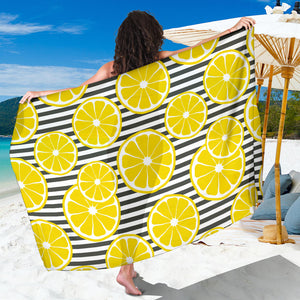 slice of lemon design pattern Sarong