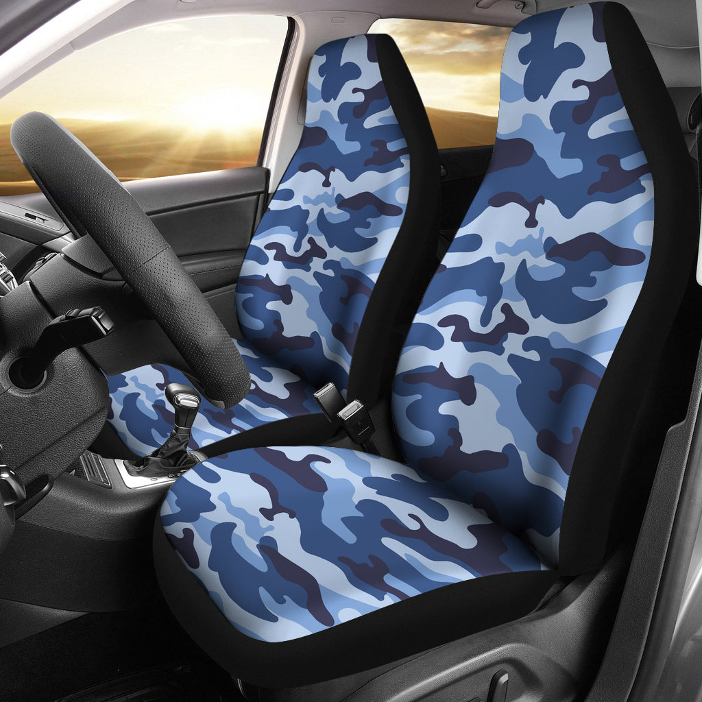 ฺBlue camo camouflage pattern  Universal Fit Car Seat Covers