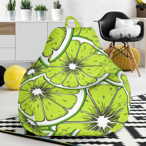 Slices of Lime design pattern Bean Bag Chair
