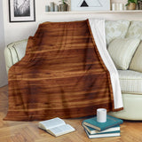 Wood Printed Pattern Print Design 04 Premium Blanket