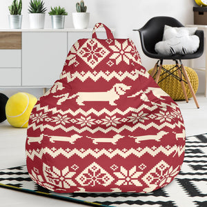 Dachshund Nordic pattern Bean Bag Chair