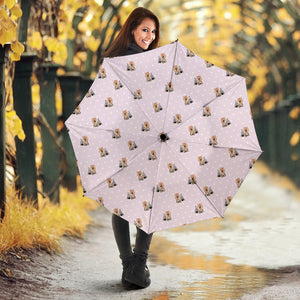 Yorkshire Terrier Pattern Print Design 02 Umbrella