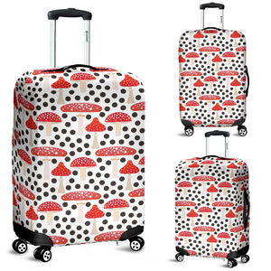 Red mushroom dot pattern Luggage Covers