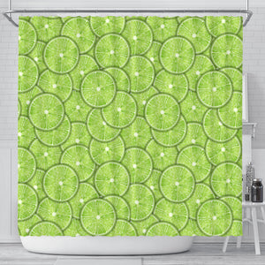 Slices Of Lime Pattern Shower Curtain Fulfilled In US