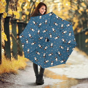 Cute Boston Terrier Dog Spattern Umbrella