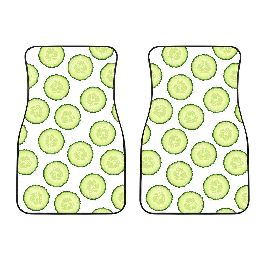 Cucumber Slices Pattern Front Car Mats
