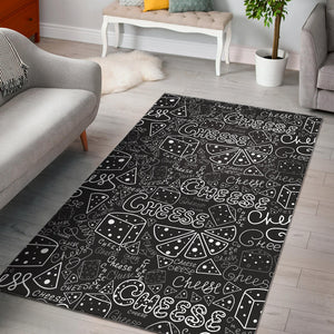 Handwritten Cheese Pattern Area Rug