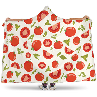 Tomato Pattern Hooded Blanket