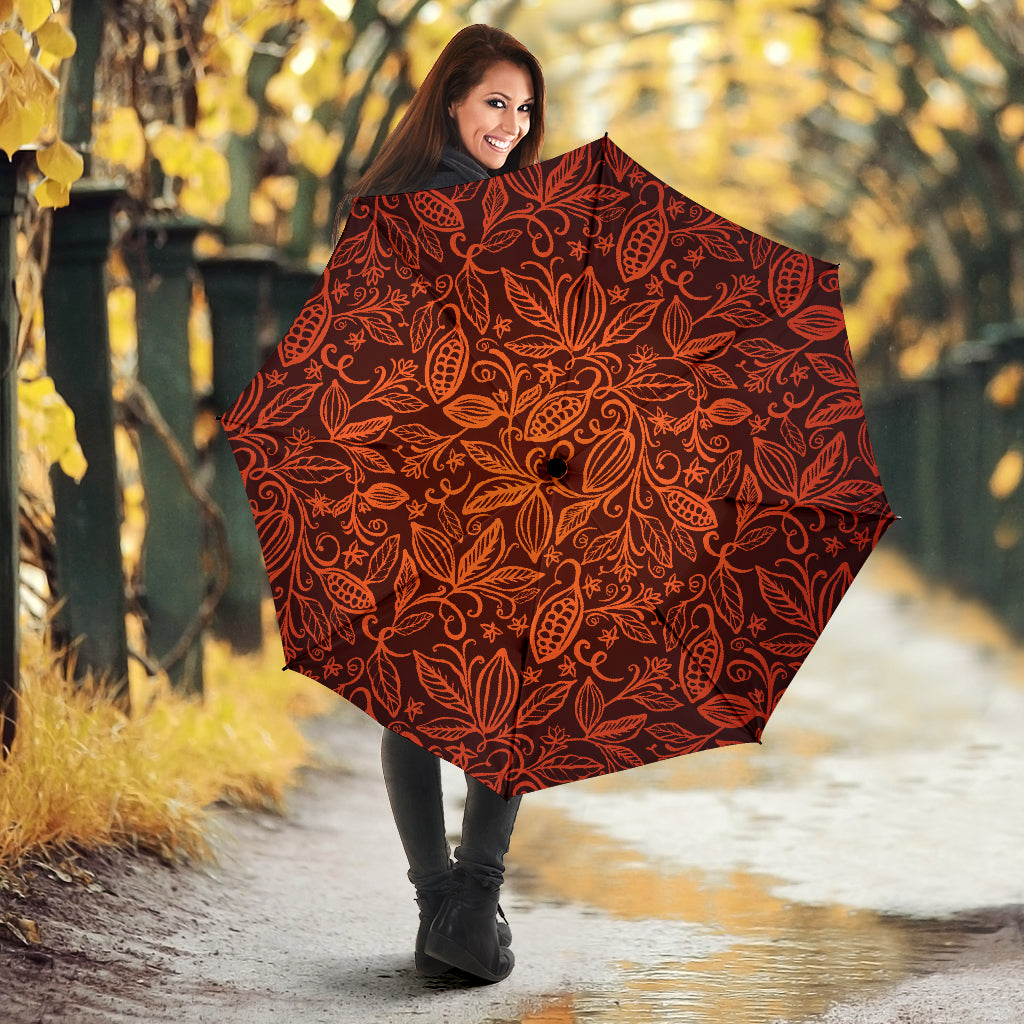 Cocoa Beans Tribal Polynesian Pattern Umbrella