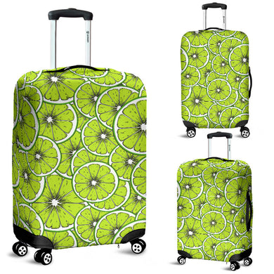 Slices of Lime design pattern Luggage Covers