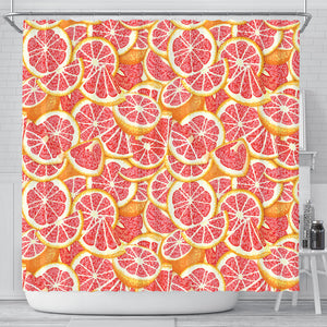 Tropical grapefruit pattern Shower Curtain