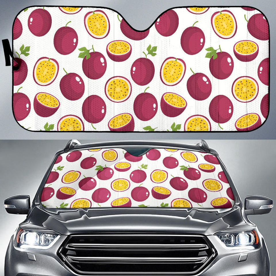 Passion Fruit Design Pattern Car Sun Shade