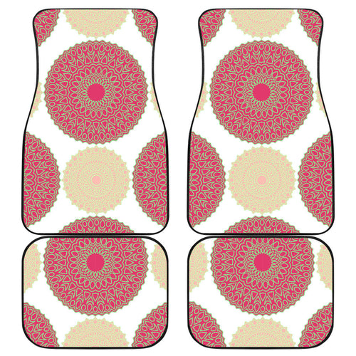 Circle indian pattern Front and Back Car Mats